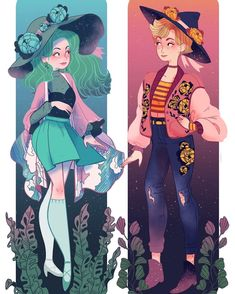 sosuperawesome - sailor moon witches, Uranus and neptune Pretty Art, Cute Art, Manga Art, Anime Art, Evvi Art, Arte Sailor Moon, Witch Art, Animation, Manga Comics