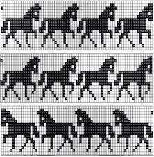 Billedresultat for horse knitting charts free Fair Isle Knitting Patterns, Fair Isle Pattern, Bead Loom Patterns, Knitting Charts, Knitting Socks, Beading Patterns, Fair Isle Chart, Crochet Patterns, Cross Stitch Borders