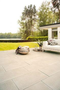 Cortesa Zandsteenbeige #terras #tuintegels #tiles #outdoor