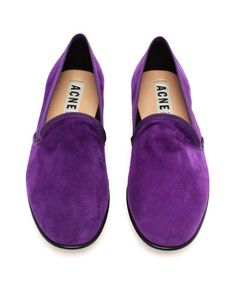 ACNE Khloe' Suede Dress Slippers