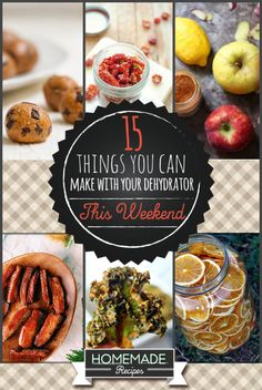 Did you know that you can make dehydrated food recipes with little effort at all? Check out these quick and easy recipes you can make with your dehydrator. Canning Recipes, Raw Food Recipes, Healthy Recipes, Freezer Recipes, Freezer Cooking, Drink Recipes, Yummy Recipes, Cooking Tips, Healthy Snacks