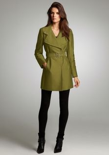 Kenneth Cole New York Sateen Trench Coat
