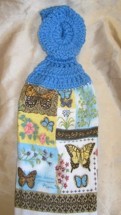 Hanging Butterfly DishtowelI by Tambowsdesigns on Etsy