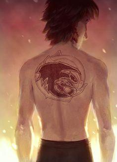 Boy with the dragon tattoo by rocketssurgery.tumblr.com