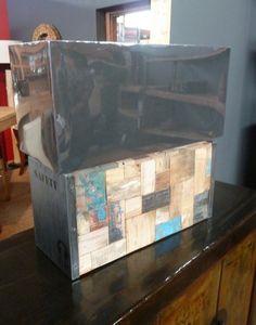 couchtisch aus recyceltem bootsholz 110x110cm neo unikat. Black Bedroom Furniture Sets. Home Design Ideas