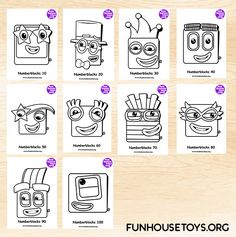 Have some fun with our collection of numberblocks printables. Find Printable Coloring Pages from Numberblocks here. Joshua 5, Cumple Paw Patrol, Fun House, Have Some Fun, Printable Coloring Pages, Flower Crafts, Fun Learning, Hello Everyone, Spring Flowers