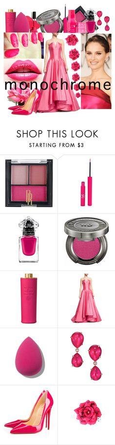 """monochrome pink"" by faizasufyan ❤ liked on Polyvore featuring Black Radiance, Sigma, Guerlain, Urban Decay, Acqua di Parma, Rubin Singer, Pomellato, Christian Louboutin and 100% Pure"