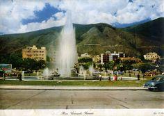 Caracas Años 1950 Plaza Venezuela Avenida Bolívar Vintage