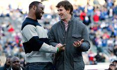 Manning & Tuck celebrating at the Stadium 2.7.12