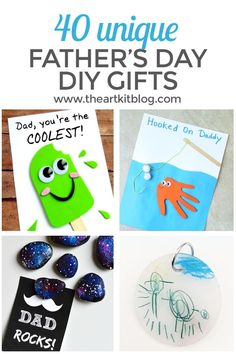 40 DIY Fathers Day Gifts You Can Make Right Now. Weve found 40 unique and adorable cards and crafts for you to choose fr Toddler Crafts, Diy Crafts For Kids, Crafts To Sell, Gifts For Kids, Diy Father's Day Gifts, Father's Day Diy, Diy Gifts For Fathers Day, Kids Fathers Day Cards, Dad Gifts