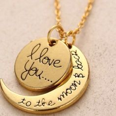 I ❤️U to the Moon and back necklace ✔️Brand new in package NO TRADES ✅✅✅ADD TO BUBDLE & SAVE Jewelry Necklaces