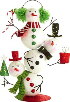 Seasonal Decor Very Merry Silly Stacked Snowman Christmas x x Inch - Basteln Organisation Snowman Crafts, Christmas Projects, Holiday Crafts, Easy Christmas Decorations, Xmas Ornaments, Diy Snowman Decorations, Christmas Snowman, Christmas Time, Theme Noel
