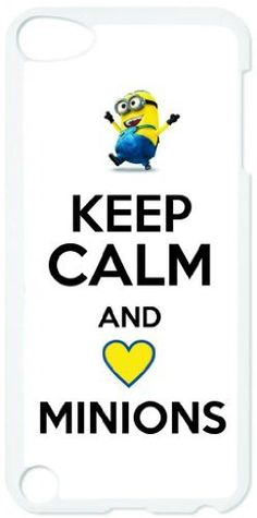 Keep Calm and Love Minions - Dispicable Me - Apple iPod Touch 5 White Case - Itouch 5th Generation - Affordable Gift by TAB, http://www.amazon.com/dp/B00DW0TCHW/ref=cm_sw_r_pi_dp_RIQbsb1P7CTNR