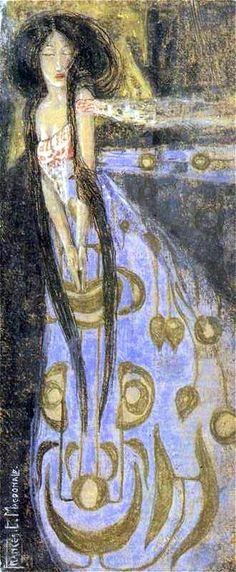 The Sleeping Princess by Frances Macdonald McNair, 1910 (rotated 90° to the left)