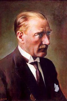 Mustafa Kemal Ataturk, first president of the Republic of Turkiye. Ataturk fought hard to make Turkiye a secular democratic modern nation.