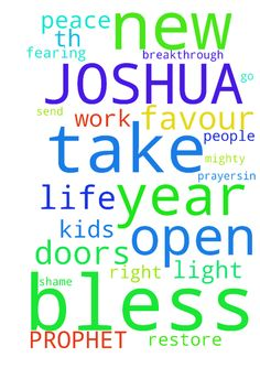 My prayer request to PROPHET TH JOSHUA. THIS YEAR IS - My prayer request to PROPHET TH JOSHUA. THIS YEAR IS MY BREAKTHROUGH. FAVOUR GOD TO BLESS MY HAND IN ANY WORK IM DOING. PEACE, TO DELIVER ME FROM ALL BAD HABITS . MY KIDS TO DO WELL AT SCHOOL .OPEN NEW DOORS. SEND THE RIGHT PEOPLE TO WORK WITH ME .TAKE ME OUT FROM DEBTS. GOD TO RESTORE ME. OPEN NEW DOORS IN MY LIFE. GOD TO BLESS ME WITH GOD FEARING HUSBAND . FAVOUR EVERYWHERE I GO. TAKE ME OUT FROM THE LONELINESS . GOD TO GIVE ME PEACE…
