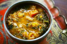 Kale and Roasted Vegetable Soup on Simply Recipes