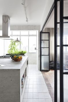 concrete kitchen | April and May