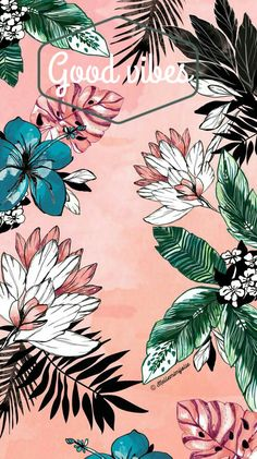 By Artist Unknown. iPhone X Wallpaper 297096906663551855 Tumblr Wallpaper, Screen Wallpaper, Flower Wallpaper, Cool Wallpaper, Pattern Wallpaper, Tropical Wallpaper, Iphone Wallpaper Vintage Retro, Retro Phone, Botanical Wallpaper