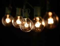 25 Outdoor Patio String Light Set G40 Clear Globe Bulbs 28 FT Black Cord E12 C7 Base End to End | Pinterest | Globe string lights Globe and Lights : globe string lights outdoor - www.canuckmediamonitor.org