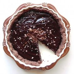 This delicious dark chocolate tart pairs perfectly with a deeply fruity cabernet sauvignon.