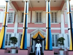 Government House in downtown Nassau, The Bahamas. All taken from the back of the bruised and used