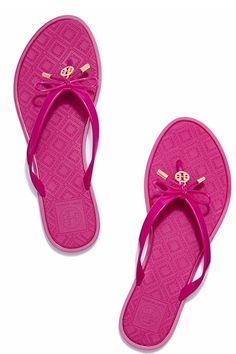 Cute Tory Burch bow thong sandals