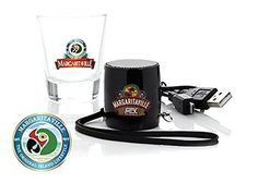 Margaritaville Portable Bluetooth Sound Shot  Mini Speaker with Shot Glass  BLACK *** Read more reviews of the product by visiting the affiliate link Amazon.com on the image.