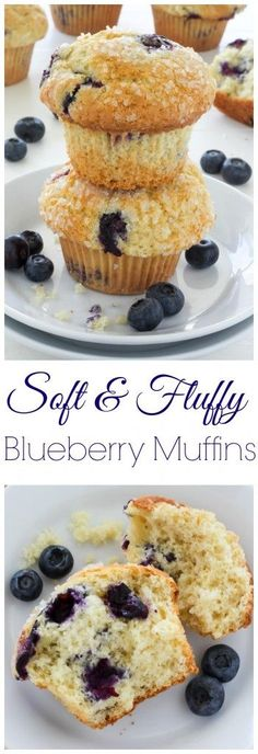 Classic Blueberry Muffins - soft, fluffy, and exploding with fresh blueberries!!!