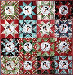 - Need'l Love<BR>Snowman Stars - Barn Chick Quilts