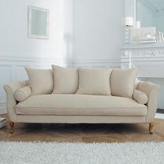 Poltrona in lino Manoir e divano 3 posti Louise, di Maison du Monde ...