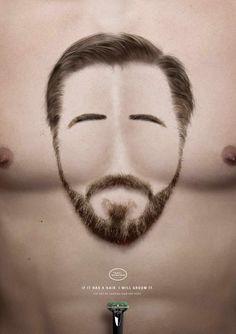 Anuncios presentan imágenes divertidas de caras hechas de bello corporal