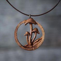 Giles Newman Oak Mushroom pendant