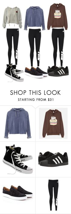 """""""🏃🏻♀️🏃Hoodies🏃🏻♀️🏃"""" by jojoberryperry ❤ liked on Polyvore featuring Miss Selfridge, Pusheen, Converse, adidas, Vivienne Westwood, NIKE and Sans Souci"""