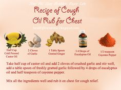 Recipe of Cough Oil Rub for Chest