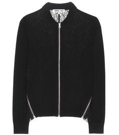 mytheresa.com - Cardigan en laine avec dentelle - Luxe et Mode pour femme - Vêtements, chaussures et sacs de créateurs internationaux