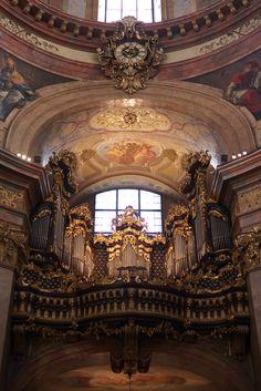 organ St Peter church baroque Vienna Austria