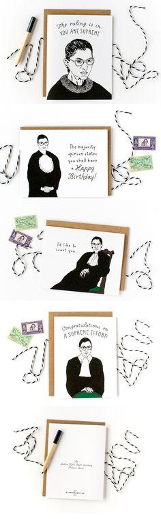 Justice Ruth Bader Ginsburg Fondness Card Series!