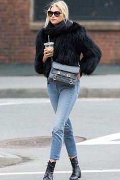 最無懈可擊的冬日穿搭組合:九分牛仔褲與短靴!