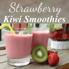 Strawberry Kiwi Smoothies Ingredients: Strawberries 2 Kiwi fruits 3 sachets of sweetened condensed milk 100 ml water In. Milkshake Recipes, Smoothie Recipes, Milkshakes, Lotion For Dry Skin, Cream For Dry Skin, Strawberry Kiwi Smoothie, Kiwi Juice, Chocolate Milkshake, Smoothie Ingredients
