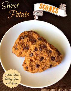 Sweet Potato Scones Paleo   #JamaicanItPaleo