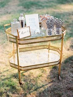 cute bar cart