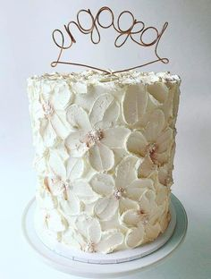 chocolate wedding cake with strawberry filling Pretty Cakes, Beautiful Cakes, Amazing Cakes, Engagement Cake Toppers, Engagement Cakes, Bolo Floral, Floral Cake, Cupcakes, Cupcake Cakes