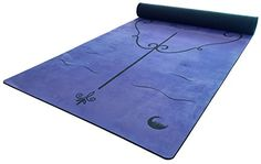 Golden Lotus Microfiber Yoga Mat with Body Alignment System Reflex Blue >>> See this great product.