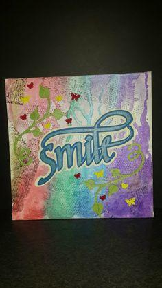 canvas Smile mixmedia