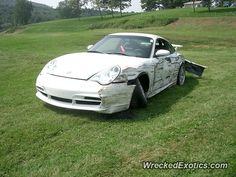 Porsche 911 996 GT3 crashed