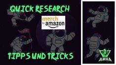 MBA Merch by Amazon Research I Ich zeige euch wie man schnell Subnischen... T Shirt Designs, Print On Demand, Amazon Merch, Comic Books, Comics, The Last Song, Earn Money, Tips And Tricks, Cartoons