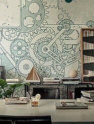 Wall & Decò - Steampunk wallpaper