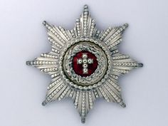 Order of the Elephant - Breast star, in silver, center enameled, 85mm, 1884 official model, unmarked, but manufactured by official maker Michelsen, extremely fine condition and rare.