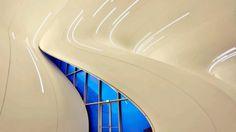 Heydar Aliyev Center in Baku designed by Zaha Hadid Architects, new symbol of Azerbaijan defined in modern architecture. Zaha Hadid Architecture, Types Of Architecture, Cultural Architecture, Organic Architecture, Zaha Hadid Works, Architectes Zaha Hadid, Zaha Hadid Design, Glass Facades, Cultural Center
